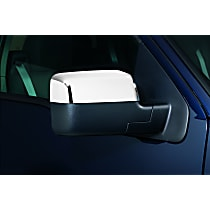 687661 Mirror Cover - Chrome, Plastic, Direct Fit, Set of 2