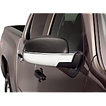 687664 Mirror Cover - Chrome, Plastic, Direct Fit, Set of 2