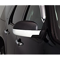 687665 Mirror Cover - Chrome, ABS Plastic, Direct Fit, Set of 2