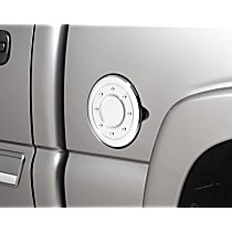 Fuel Door Cover - Chrome, Plastic, Direct Fit, Sold individually