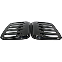 83410 Window Louver - Paintable smoked, Plastic, Louver, Direct Fit, Set of 2