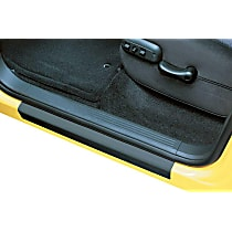88106 Door Sill Protector - Black, Molded plastic, Direct Fit, Set of 2