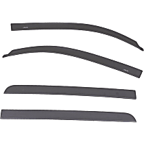 Paint to Match Window Visor, Front and Rear, Driver and Passenger Side - Set of 4