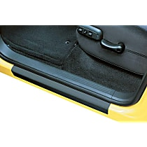 Door Sill Protector - Black, Molded plastic, Direct Fit, Set of 4
