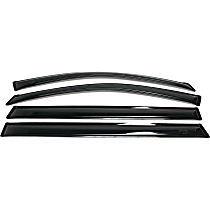 94153 Smoke Window Visor, Front and Rear, Driver and Passenger Side - Set of 4