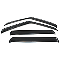 94755 Smoke Window Visor, Front and Rear, Driver and Passenger Side - Set of 4