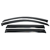 94763 Smoke Window Visor, Front and Rear, Driver and Passenger Side - Set of 4