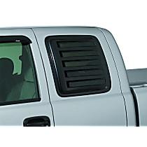 Window Louver - Black, Plastic, Louver, Direct Fit, Set of 2