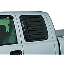 97844 Window Louver - Black, Plastic, Louver, Direct Fit, Set of 2