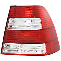 Passenger Side Tail Light, Without bulb(s) - Clear & Red Lens, GL/GLS Models