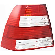 Driver Side Tail Light, Without bulb(s) - Clear & Red Lens, GL/GLS Models