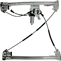 WL41430 Front, Driver Side Power Window Regulator, With Motor