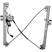 WL41645 Front, Passenger Side Power Window Regulator, With Motor