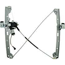 WL44165 Front, Driver Side Power Window Regulator, With Motor