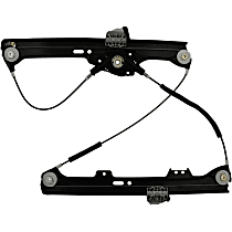 WR40074 Front, Driver Side Power Window Regulator, Without Motor