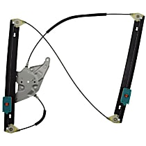 WR40498 Front, Driver Side Power Window Regulator, Without Motor - Wagon