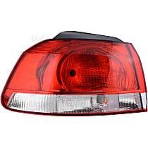 43878 Driver Side, Outer Tail Light, With bulb(s)