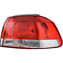 43879 Passenger Side, Outer Tail Light, With bulb(s)