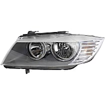 44811 Driver Side Halogen Headlight, With bulb(s)