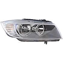 44812 Passenger Side Halogen Headlight, With bulb(s)