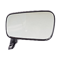 Mirror - Passenger Side, Manual Remote, Folding, Textured Black