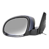 Mirror - Driver Side, Power, Heated, Folding, Paintable, With Turn Signal, Black Base