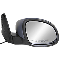 Mirror - Passenger Side, Power, Heated, Folding, Paintable, With Turn Signal, Black Base