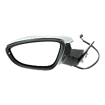 Mirror - Driver Side, Power, Heated, Folding, Chrome, With Turn Signal