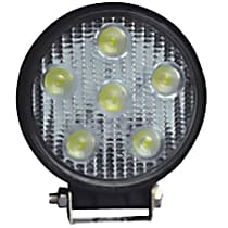 09-12005A Offroad Light - Black, Steel, Sold individually