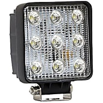 09-12211B Offroad Light - Black, Steel, Sold individually