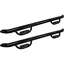 20-3975 Westin GENX Powdercoated Black Nerf Bars, Covers Cab Length - Set of 2