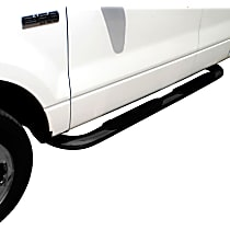 21-3825 Westin Platinum series oval Powdercoated Black Nerf Bars, Covers Cab Length - Set of 2