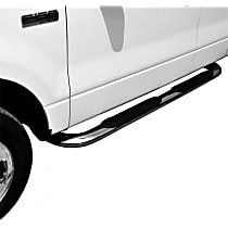 21-2350 Westin Platinum series oval Polished Nerf Bars, Covers Cab Length - Set of 2
