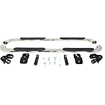 21-3560 Westin Platinum series oval Polished Nerf Bars, Covers Cab Length - Set of 2