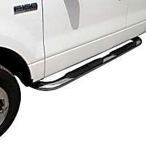 Westin Platinum series oval Polished Nerf Bars, Covers Cab Length - Set of 2
