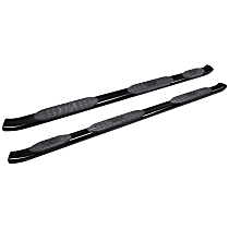 Westin Pro Traxx 5 Powdercoated Textured Black Nerf Bars, Covers Wheel to wheel - Set of 2