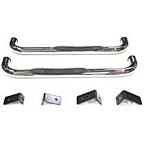 E-Series Polished Nerf Bars, Covers Cab Length - Set of 2