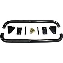 23-2115 E-Series Powdercoated Black Nerf Bars, Covers Cab Length - Set of 2