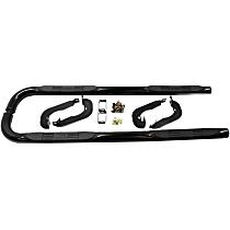 23-2135 E-Series Powdercoated Black Nerf Bars, Covers Cab Length - Set of 2