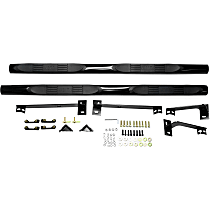 Westin E-Series Powdercoated Black Nerf Bars, Covers Cab Length - Set of 2
