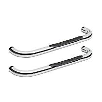 Signature Series Chrome Nerf Bars, Covers Cab Length - Set of 2
