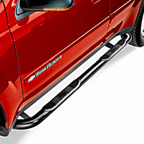 25-1555 Signature Series Powdercoated Black Nerf Bars, Covers Cab Length - Set of 2