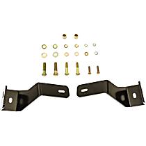 30-1395 Light Bar Mounting Kit - Powdercoated Black, Direct Fit, Kit