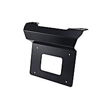 32-30065 License Plate Relocator - Powdercoated Black, Steel, Universal