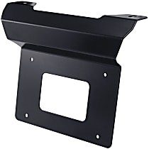License Plate Relocator - Powdercoated Black, Steel, Universal