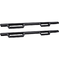 Powdercoated Textured Black Nerf Bars, Covers Cab Length - Set of 2