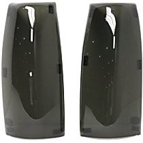Tail Light Cover - Smoked, Acrylic, Solid, Direct Fit, Set of 2