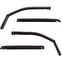 72-35407 Smoke Window Visor, Front and Rear, Driver and Passenger Side - Set of 4