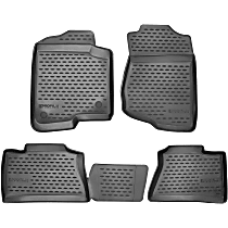 74-02-41005 Black Floor Mats, Front And Second Row
