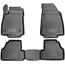 74-04-41001 Black Floor Mats, Front And Second Row